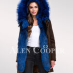 Reinvent yourself in aristocratic Arctic fox fur ladies hybrid coffee parka convertibles