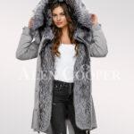 Scintillating Scandinavian silver fox fur hybrid grey parka convertibles for today's women