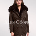 Time to refurbish your closet with Arctic fox fur hybrid coffee parka convertibles for females