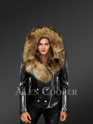 More elegant and stylish you in Finn raccoon fur detachable jackets for women new view