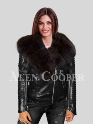 Reinvent your grace with polar fox fur detachable jackets for women
