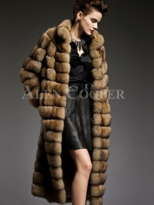 Exclusive and unique long sable fur coats redefining the style and aura of the modern women