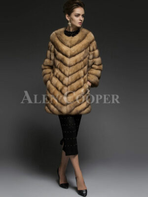 Exotic version of Russian Sable fur coat for the modern women