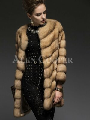 Exotic version of Russian Sable fur coat for the modern women view