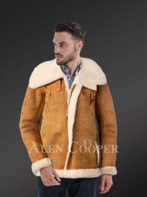 Setting fresh trends with uniquely designed pure shearling coats for stylish men