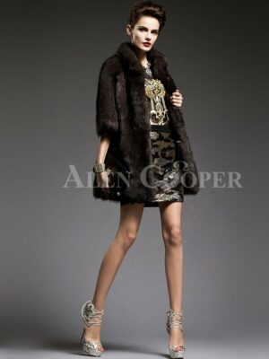Unique version of Russian sable fur half sleeve coats to refurbish the aura of modern women