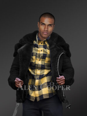 Incredible range of biker-style black shearling for men who dare and care new views