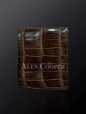 Authentic leather wallets made from horn back alligator skin (1)