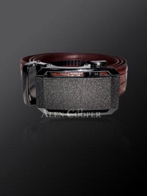 Genuine alligator skin leather belt for greater style & appeal