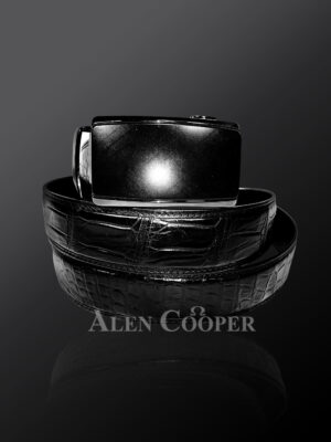 Genuine alligator skin leather belts for greater style and appeal