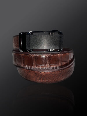 Genuine alligator skin leather belts for greater style & appeal