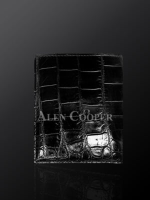 Tastefully designed authentic leather wallets in black (4)