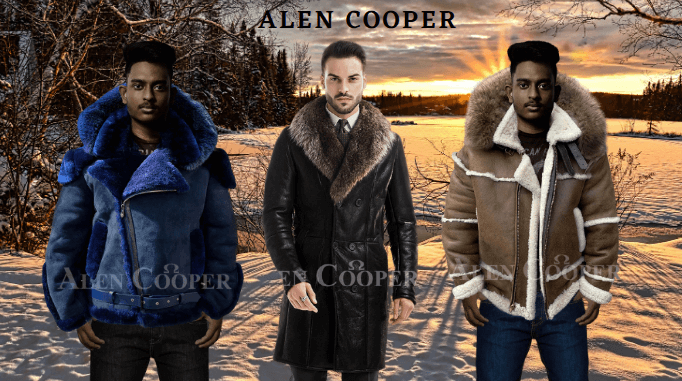 STYLISH SHEARLING COATS WITH FUR HOOD TO REDEFINE MEN'S FASHION TREND