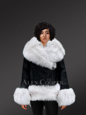 Authentic Shearling coat in black redefining style for women new