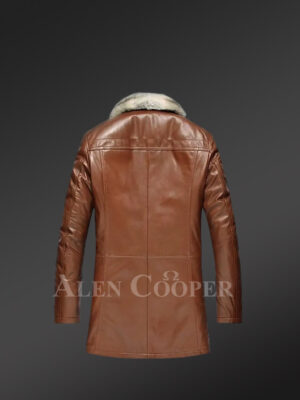 Genuine Lambskin winter Coat for style-conscious men in Brown