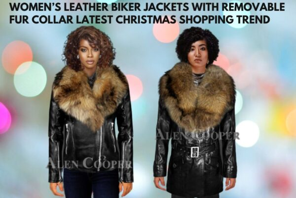 Women's Leather Biker Jackets With Removable Fur Collar Latest Christmas Shopping Trend