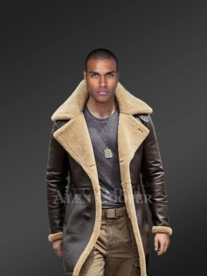 Authentic shearling coats in black to help men reinvent their existence
