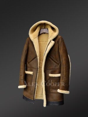 Genuine Shearling jackets in retro brown only for bold and stylish men