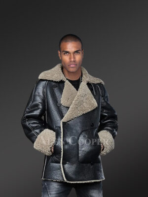Genuine shearling coats in black to redefine winter dressing trends