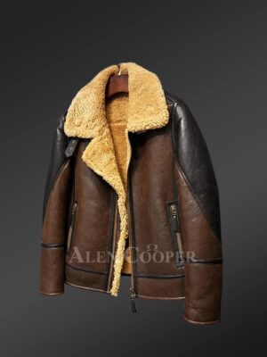 Genuine shearling jackets for men with flawless designing
