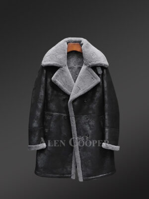 Genuine shearling jackets for stylish men in black