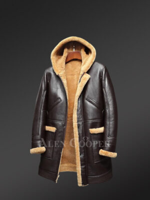 Men's dark brown authentic shearling coats to boost your appeal