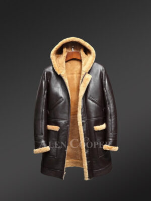 Mens dark brown authentic shearling coats to boost your appeal