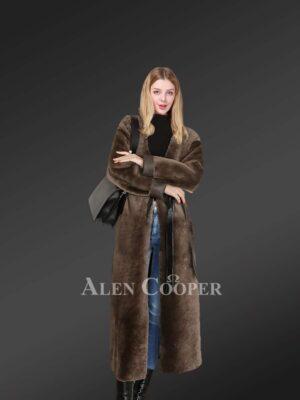 Stylish Shearling Long Coats to make women more appealing