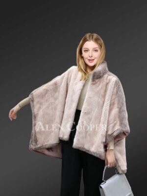 Appealing mink fur capes for elegant ladies views