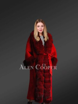 Authentic mink fur coats in burgundy for women of substance