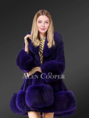 Blue Mink fur coat for stylish women this winter
