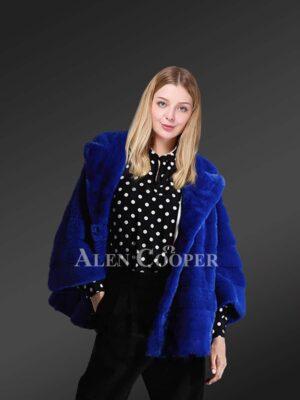 Genuine mink fur coats in appealing blue fr stylish divas views