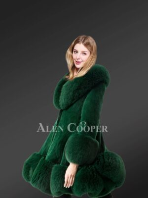 Green Mink fur coat for women to stay stylish and warm