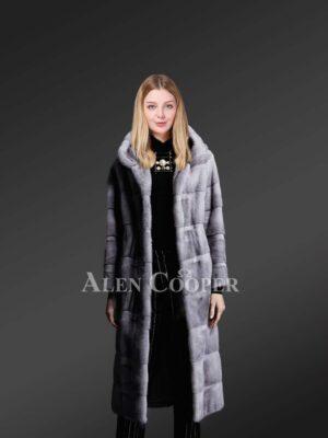 Hooded fur long coats for trendier women