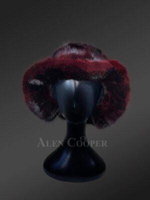 Innovatively designed appealing fur caps for women